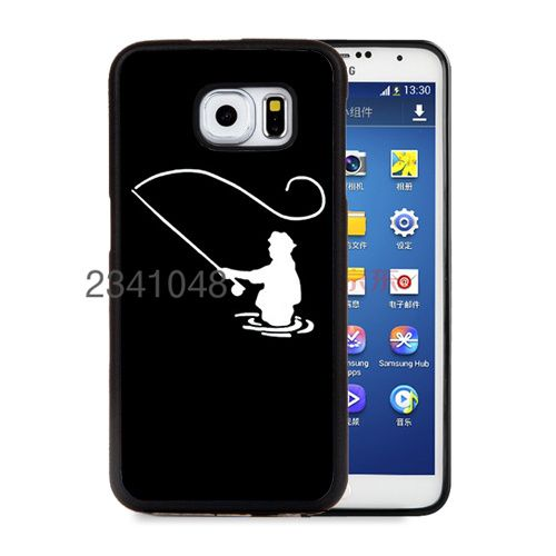 fly fishing fisherman soft edge cellphone cases for samsung s6 edge plus s7 edge s8 s9 s10 plus lite e note8 note9 cover case