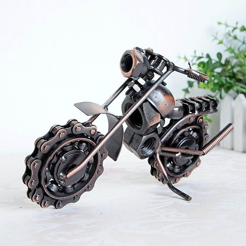 Big Size Retro Bronze Color Metal Motorcycle Model Vehicle Toys for kids and home decoration