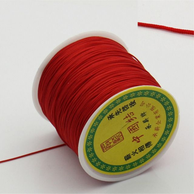 DoreenBeads Terylene Cord Thread rope Chinese Knot Red 1mm Dia,1 Roll (90 meter/Roll) (B22527)