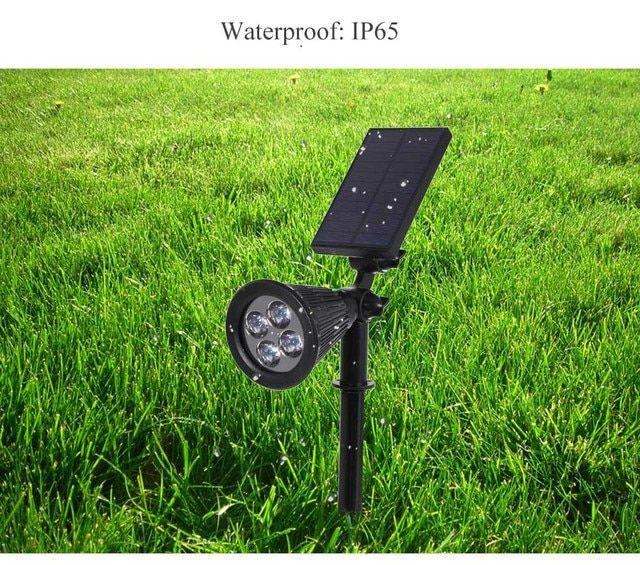 Led solar light Outdoor Solar Powered Spotlight Waterproof Wall Security Lamp Patio Lawn Garden lampada solar With solar panels