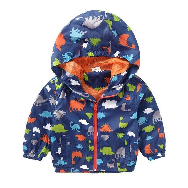New 2017 Baby Boy Spring Jackets Brand Outerwear Dinosaur Hooded Softshell Jacket For Boys Kids Coat High Quality 2-6 Years