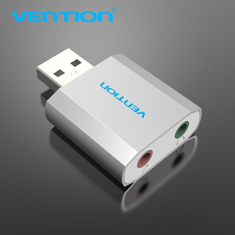 Vention USB Sound Card External USB To Jack 3.5mm 2.1 Channel Headphone Adapter For WinXP/7/8/10 Vista Chrome os Headsets