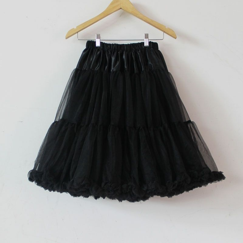 Plus Size Women Clothing Teenage Girl Adualt Black Pettiskirt Tutu Women Tutu Party Dance Adult Long Skirt Performance Clothing