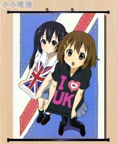 New Japan anime K-on Wall Scroll Home Decor Poster gift cosplay Yui Mio