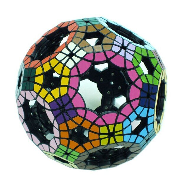 YKLWorld 62-Sided Hollow Football Tuttminx Professional Magic Cube PVC Sticker Cubo Magico Puzzle Game Education Toy Gift (S8