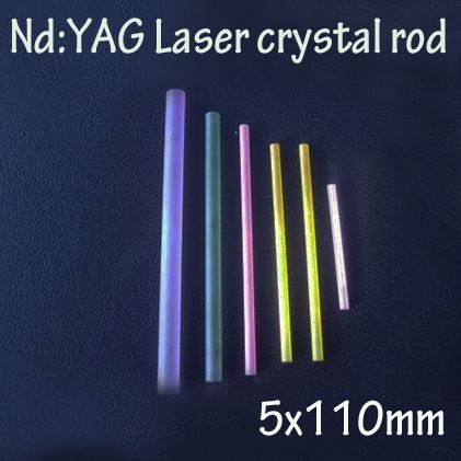 5x110mm Nd: YAG laser crystal rods