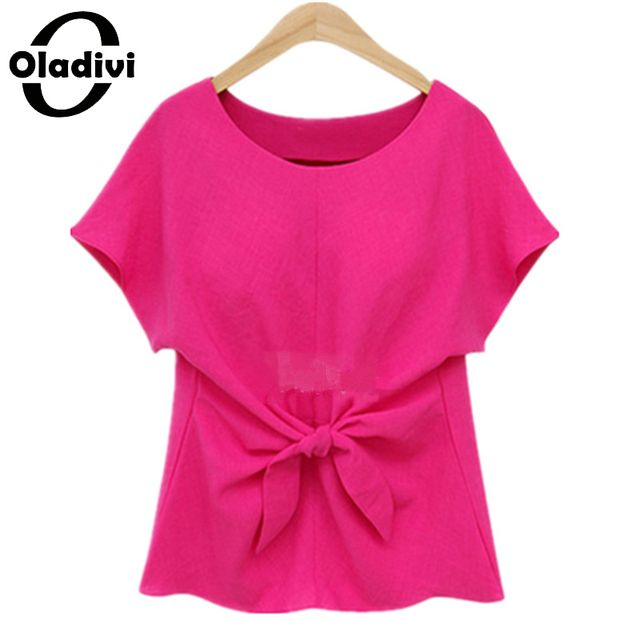 XL XXXXXL Plus Size Women Clothing 2017 Summer Style Fashion Lady Top Bow Shirts Chiffon Blouses Female Tunics Camisas Femininas