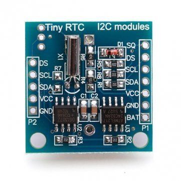 2pcs/lot Hot Tiny RTC I2C DS1307 AT24C32 Real Time Clock Module For Arduino AVR PIC 51 ARM Free Shipping