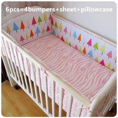 Discount! 6/7pcs Baby Crib Bedding Set bedding kit cot bedding set baby bumper hot selling , duvet cover,120*60/120*70cm