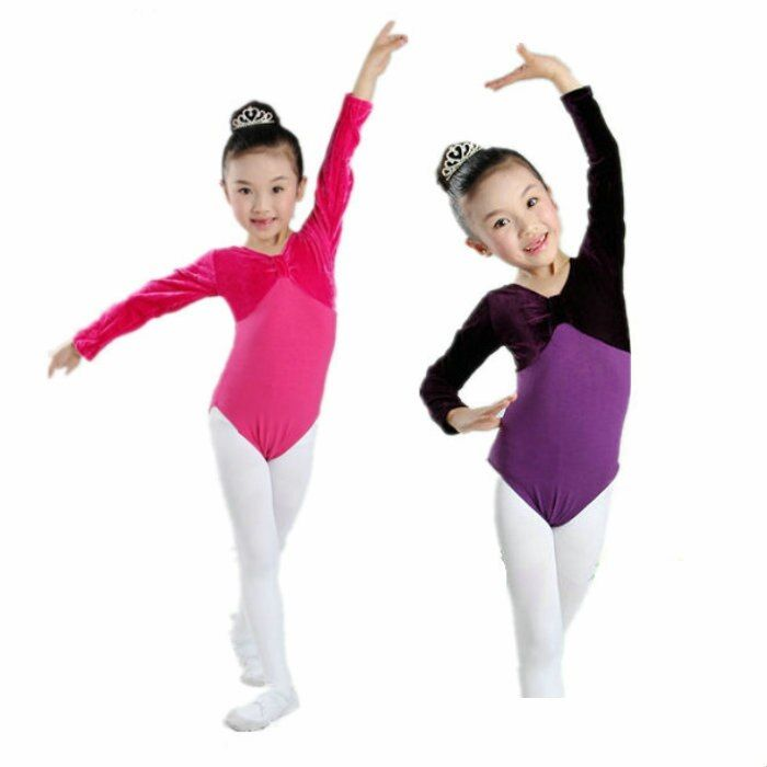 childs purple red dance clothes Basic Ballet Gymnastics Dance Leotards Child Kids Leotardos Leotard For Girls