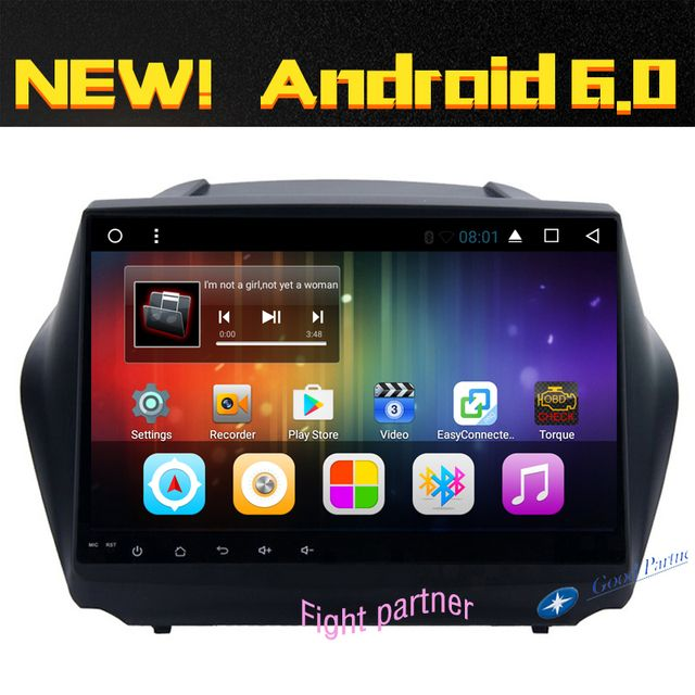 Free Shipping! Android 6.0 HD Car DVD For Hyundai iX35 Tucson With GPS Radio RDS BLUETOOTH MIRROR LINK 4G WIFI