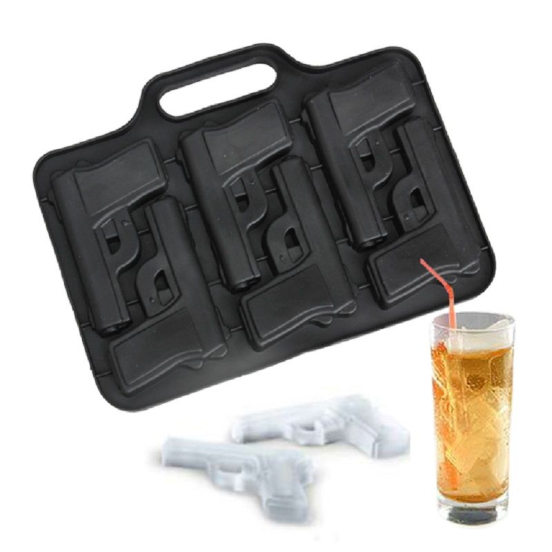 1PC Gun Bullet Shape Ice Mold Tray Ice Cream Maker Ice Mould for Cocktail Whiskey Kitchen Bar Drinking Accessories