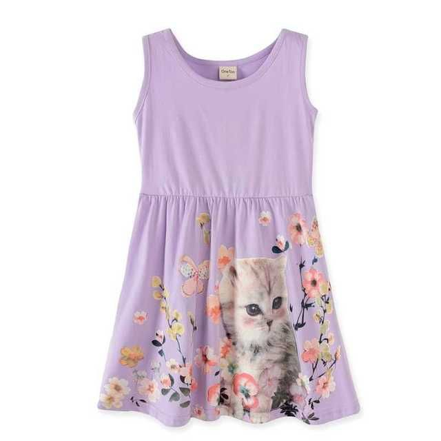2-10 years  baby girl dress girls tank dress. kids summer party princess dresses children clothing butterfly  ladybug fox