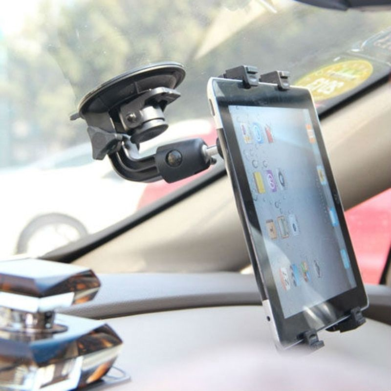 Tengocase Car holder Clip Windshield Stand for iPad 2 3 4 air Mini Tablet PC Holder 360 Degree for mobile 7 8 9 10 inch