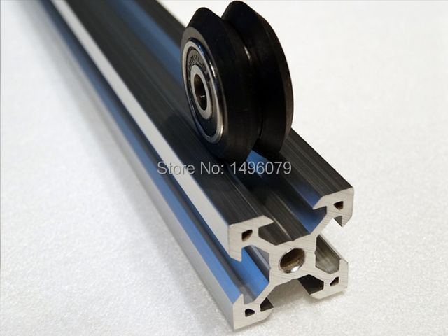 V slot rail aluminum profile extrusion 2020 6pcs*50cm Cutted CNC machine building Part Holder Free Shipping