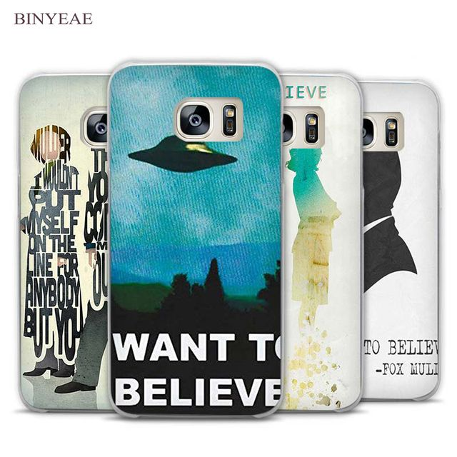 BINYEAE The X Files I want to believe Clear Phone Case Cover for Samsung Galaxy Note 2 3 4 5 7 S3 S4 S5 Mini S6 S7 S8 Edge Plus