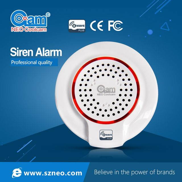 Home Automation Z-wave Sensor Siren Alarm Compatible System with Z-wave 300 series and 500 series Support NEO Doorbell