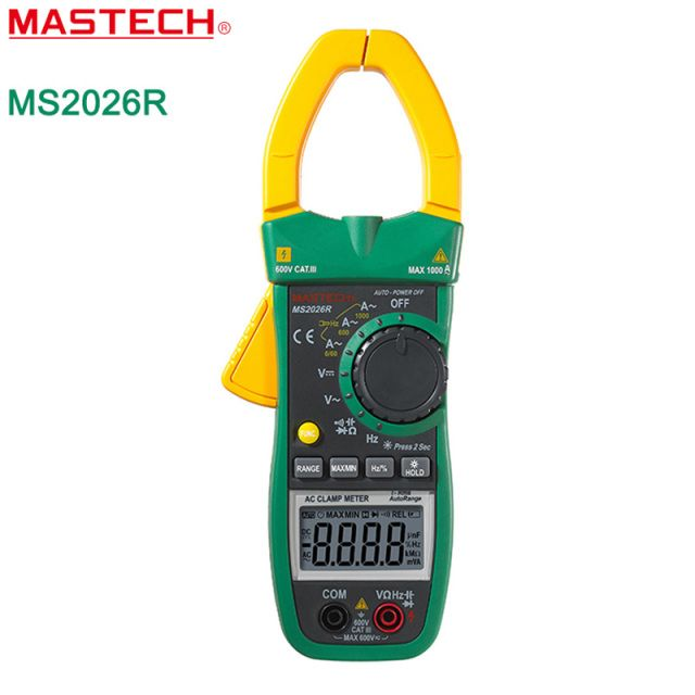 MASTECH MS2026R Auto&Manual Range 6000 Counts Digital Clamp Multimeter AC/DC Tester True RMS temperature measurement ADP