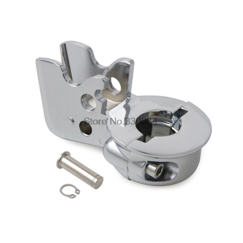 Motor Bike Clutch Perch Holder Mirror Base Fits Harley Dyna Super/Wide Glide Not all Silver