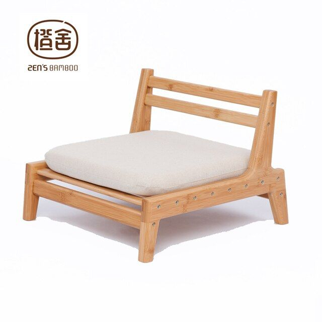 ZEN'S BAMBOO Meditation Chair Japanese Style Chair With Cushion Assemble Backrest Floor Seats Living Room Furniture