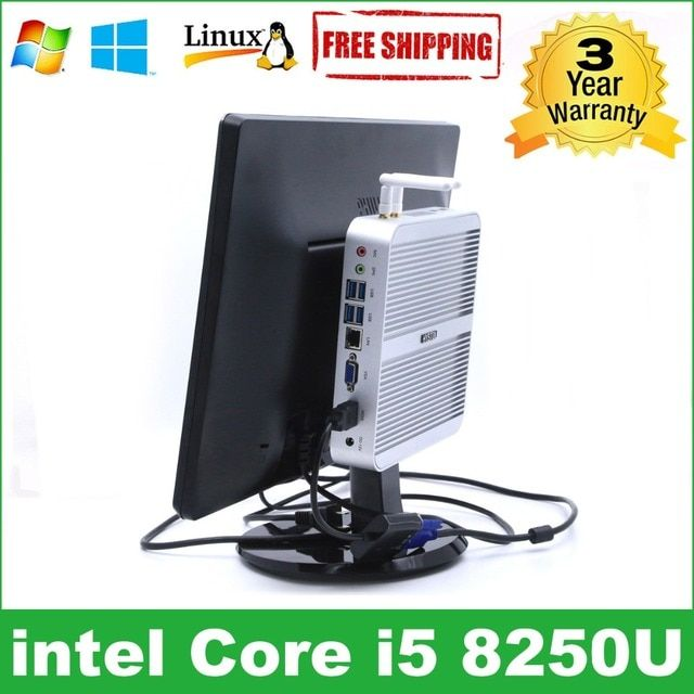 Intel Core i5 8250U minipc i3 7100U HYSTOU Kaby Lake Fanless Mini PC Windows Intel HD Graphics 620 Mini Computer Barebone i5 pc