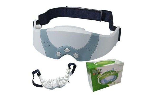 Eye Mask Health Care Machine Migraine DC Electric Care Forehead Eye Massager Vibrating Mask Relax