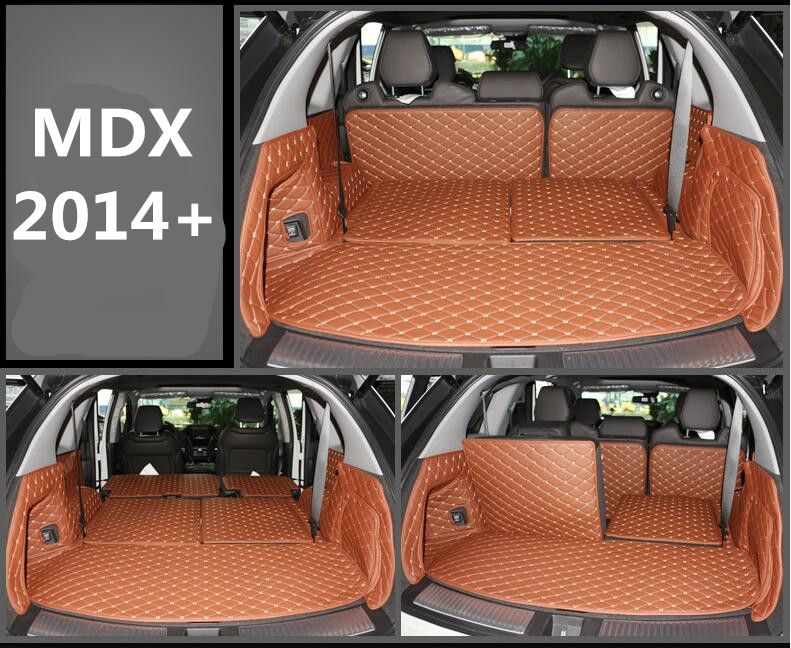 Full Rear Trunk Tray Liner Cargo Mat Floor Protector foot pad mats for 14-17 Acura MDX 2014 2015 2016 2017 (6colors)
