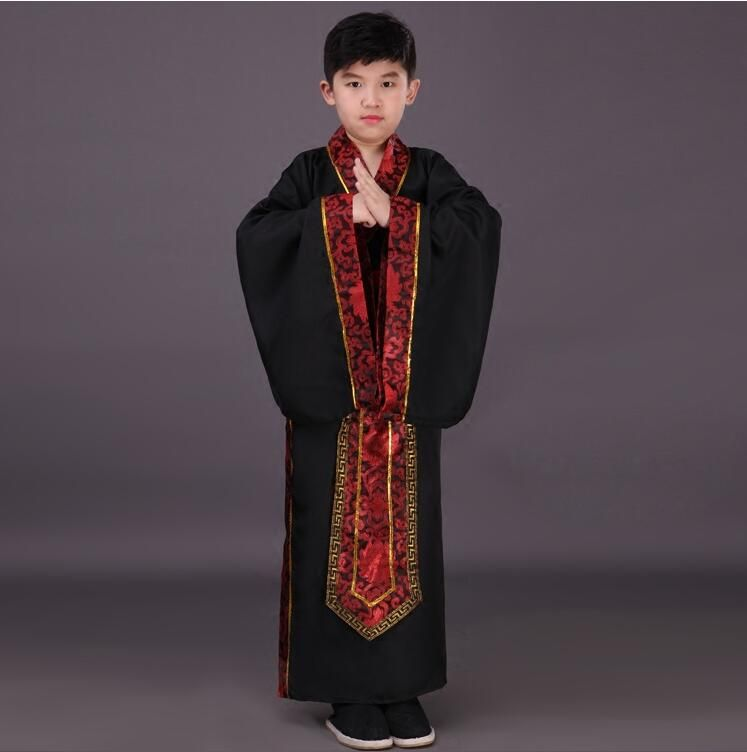 Hanfu Dress Ancient Chinese Traditional Costume Men for Kids Boys Hanfu Cosplay Child Clothing Red Tang Dynasty Dance Children
