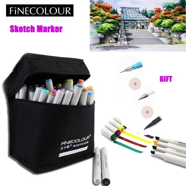 160 Colors Finecolour Alcohol Based Ink Double Headed Art Sketch Markers Brush Pen Artist Set Animation Manga Design