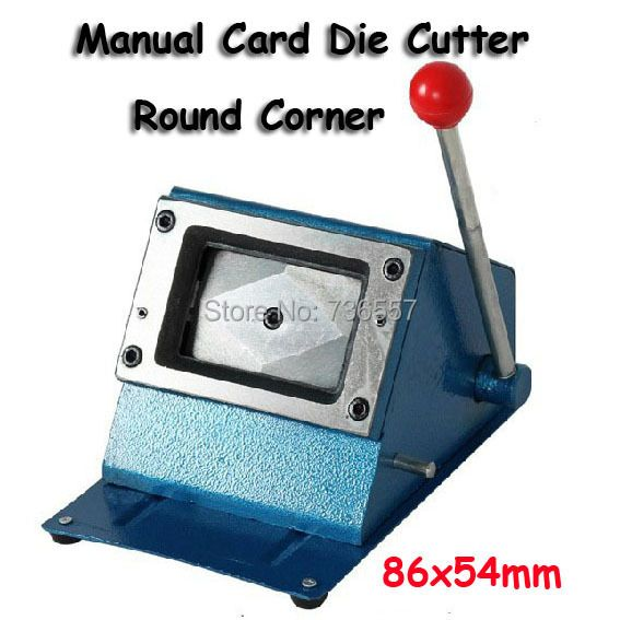 Heavy Duty 3.38*2.12 inch (86*54mm) Round Manual Paper Card Cutting PVC Card Puncher Manual Plastic Card Die Cutter