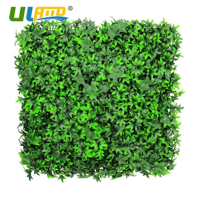 ULAND Plastic Leaves Plants Panel Artificial Boxwood Hedge Foliage Mat Wall Wedding Christmas Garden Decoration Fence 50x50cm/pc