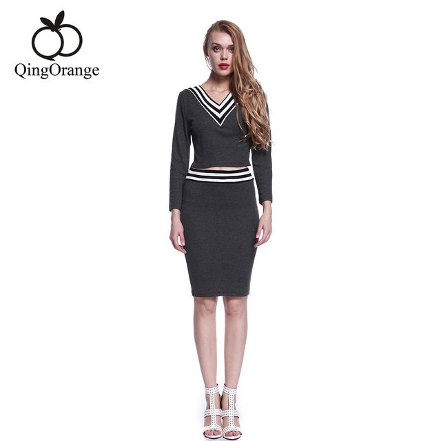 Women Knitted Pencil  High Waist Mini Slim Hip Black Mujer  Sets Free Shipping
