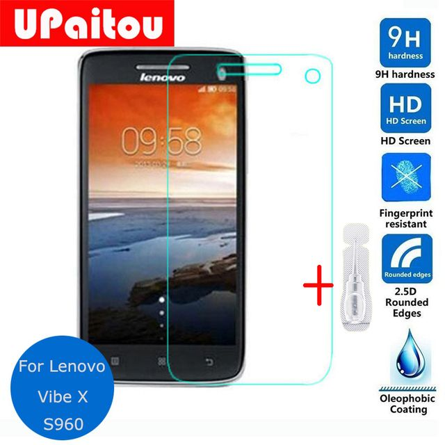 UPaitou Safety Protective Glass For Lenovo vibe X S960 Tempered Glass Screen Protector on Vibe X S968T IdeaPhone LePhone S 960