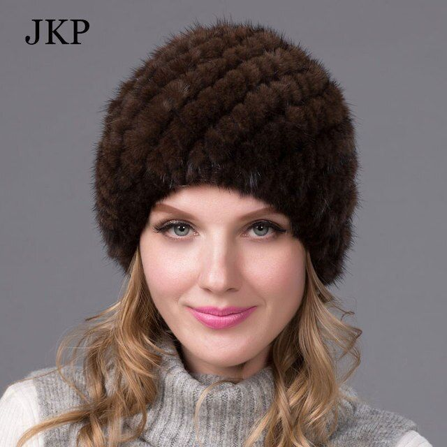 Winter mink fur hat for women genuine natural fur Pineapple cap Russian beanies hat 2015 fashion good quality thick fur hats