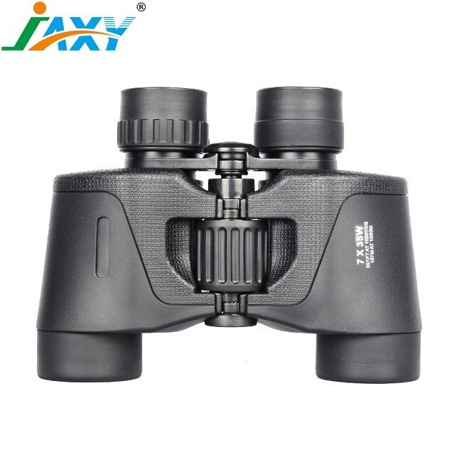 JAXY 7X35 Portable Hunting Scopes BAK4 Prism FMC Coated Blue Film Objective Lens Binoculars Russia Hot Sale Zoomable Telescopes