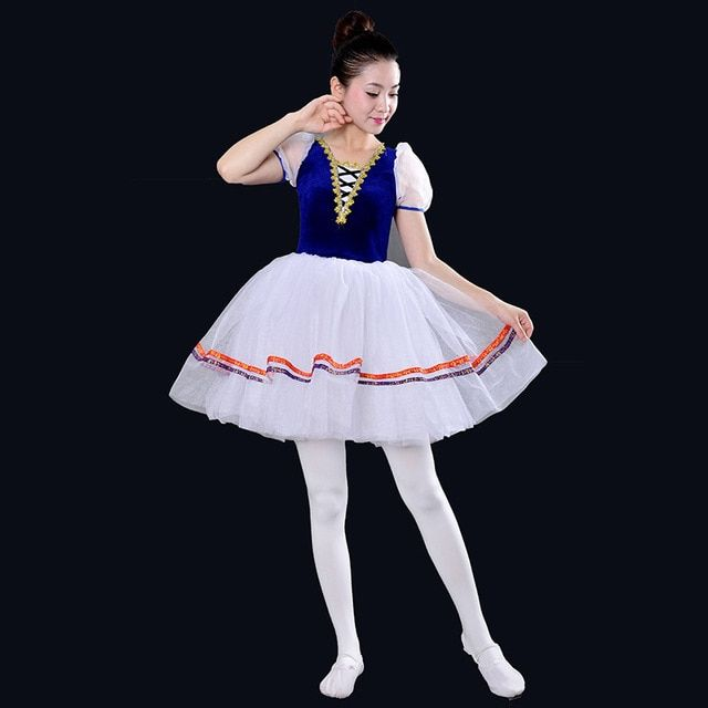 New Romantic Tutu Giselle Ballet Costumes Short Sleeve Professional Adulto Ballerina Dance Wear