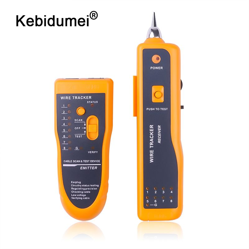 Cat5 Cat6 RJ45 LAN Network Cable Tester Line Finder RJ11 Telephone Wire Tracker Tracer UTP STP Diagnose Tone Network Tool Kit