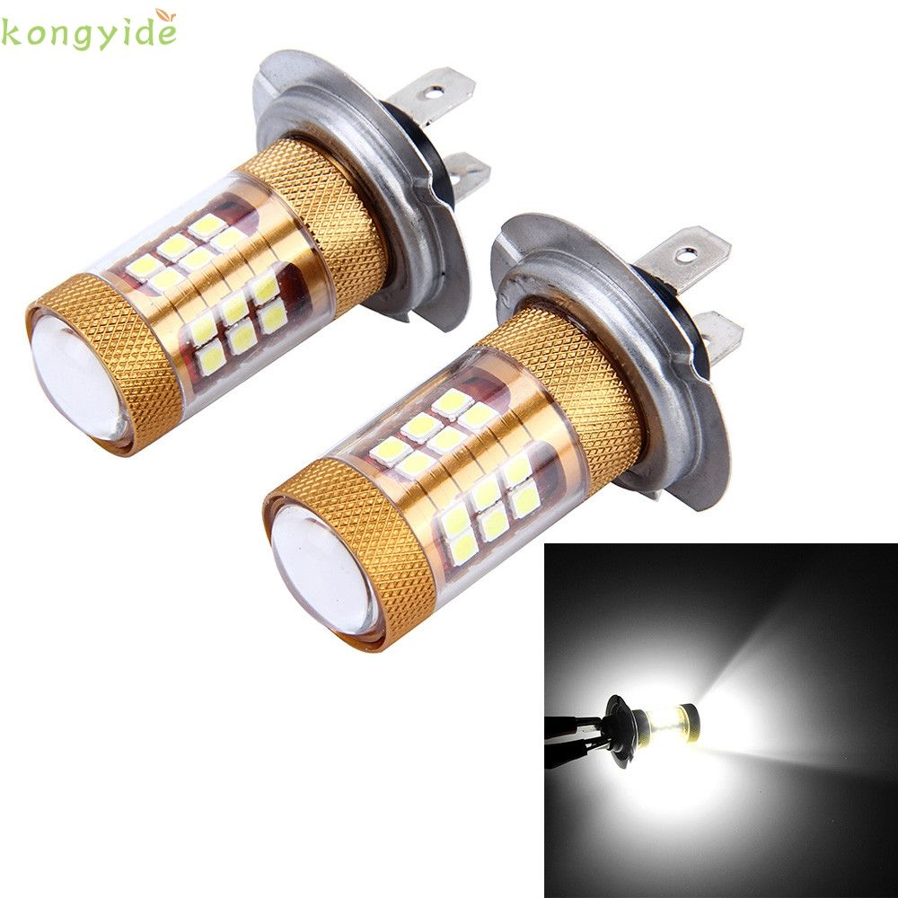 Auto car styling led2PC H7 3030 56W Automotive LED Ultra-Bright Fog Lamp With Lens feb15 car-styling