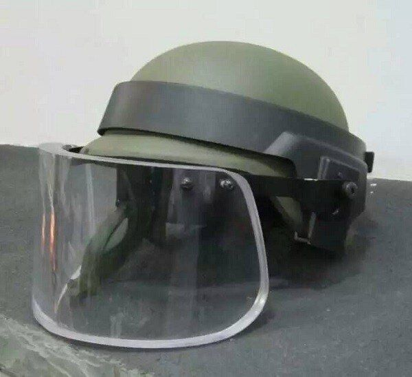 Bullet Proof Ballistic Face Shield Mask Glass For Bulletproof Helmet Body Armor