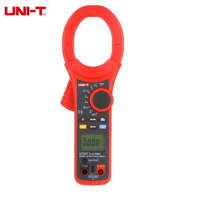 2017 Original Professional UNI-T UT221 LCD Backlight 2000A True RMS Digital Clamp Meters W/ Frequency&Duty Cycle Test Multimeter