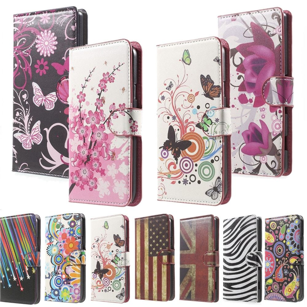 Pink Plum  Leather Wallet Flip Cover Case For Samsung Galaxy S4 i9500 i9505 i9508 I9508V GT-i9505 GT-i9508v GT-i9508 phone case