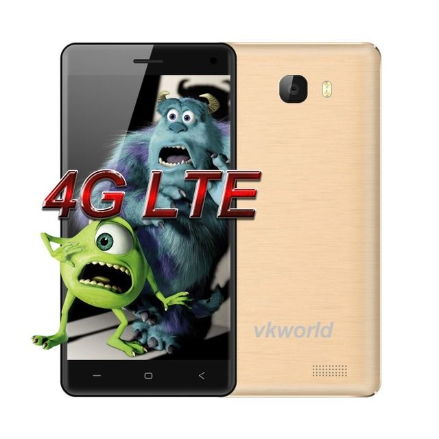 "Vkworld T5 SE 4G 5.0 ""HD 1280*720 Smartphone Android 5.1 Quad Core Cellphone 1 GB + 8 GB 8MP 2000 mAh MTK6735 Mobile phone"