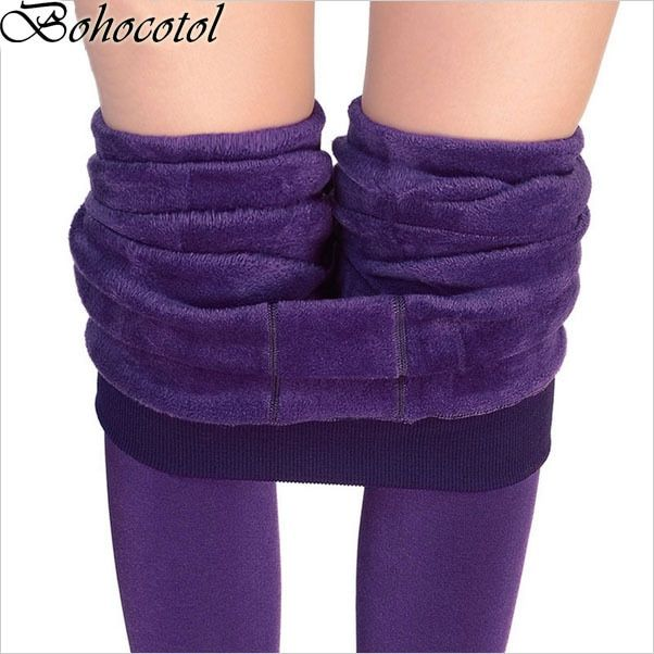 Bohocotol Hot Sale S-XL 2017 winter New Fashion women's pants high elasticity good quality thick velvet pants free shipping