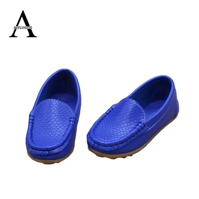 Aercourm A Children Shoes 2017 Spring Loafers Shoes Girls Boys Non-slip Tendon Sneakers Kids PU Leather Baby Casual Kids Shoes