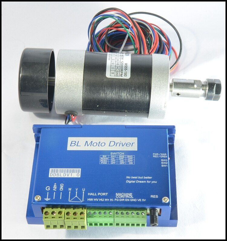 one set 400W brushed high-speed air-cooled spindle motor TAKE er11 with driver