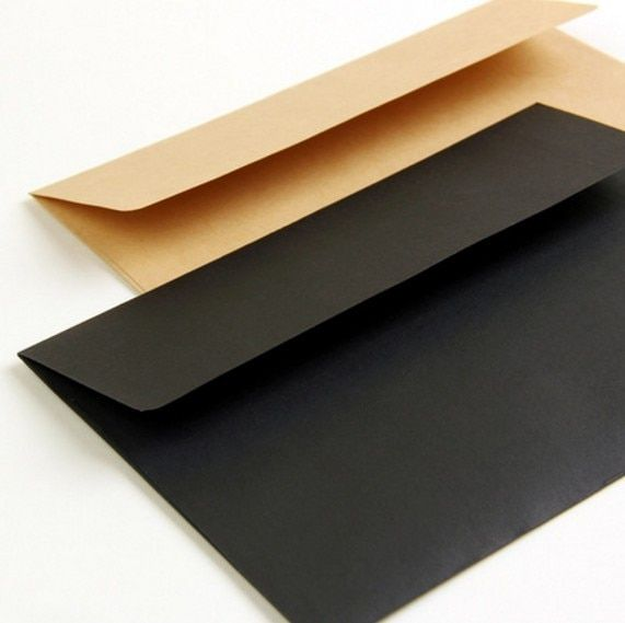 40 pcs/lot Black Red Kraft Paper European Style Vintage Business Envelope Gift Postcard Envelopes for Wedding Letter Invitations