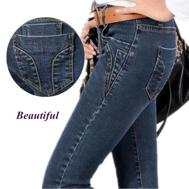 Jeans Women  New Fashion  Trousers jeans Pants Lady Jeans Pants Ladies  Free Shipping