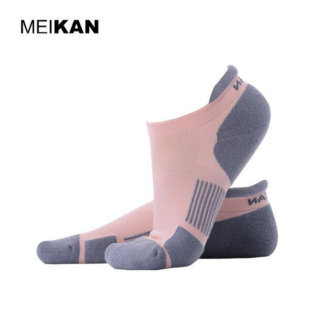 Running Socks Cycling Terry Thick Thermosocks Coolmax Compression Short Ankle Sox Futbol MEIKAN Brand Non Slip Meias Calcetines