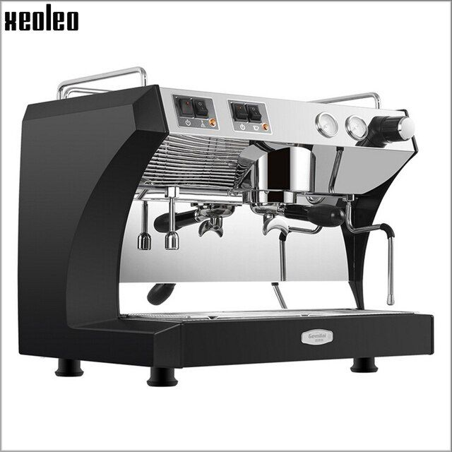 Xeoleo Commercial Semi Automatic Coffee machine 220V Espresso machine Espresso Coffee Maker Stainless steel Coffee machine