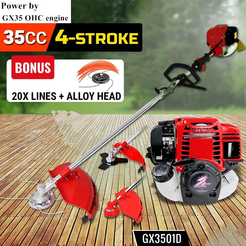 NEW 4 Stroke Gasoline Brush Cutter  POWERED by OHC GX35 Brush Cutter WHIPPER SNIPPER Grass Trimmer Petrol Strimmer Cutter